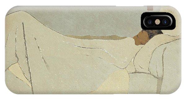 Sleeper iPhone Case - In Bed by Edouard Vuillard