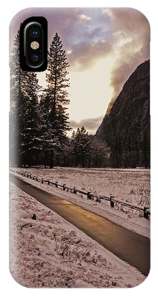 In Between Snow Falls IPhone Case