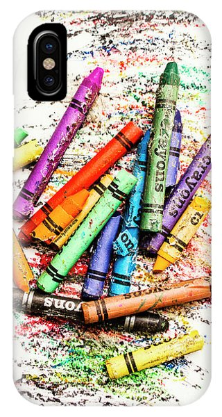 Classroom iPhone Case - In Colours Of Broken Crayons by Jorgo Photography - Wall Art Gallery
