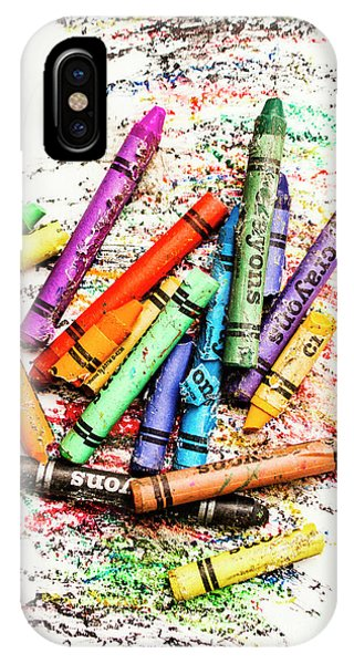 In Colours Of Broken Crayons IPhone Case