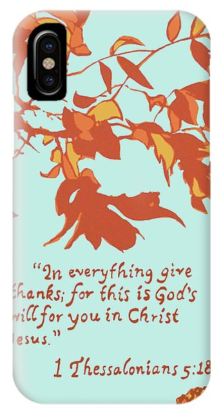 In Everything Give Thanks IPhone Case