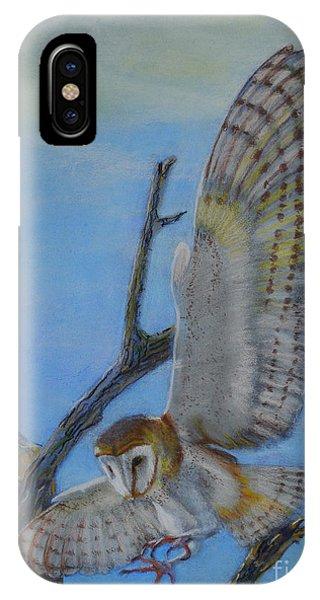 In Flight Barn Owl IPhone Case