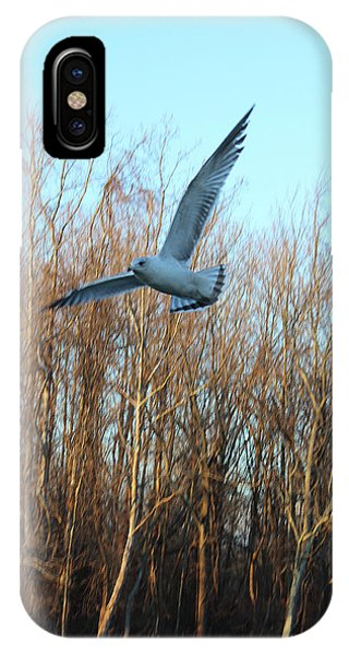 IPhone Case featuring the photograph In Flight by Melinda Blackman