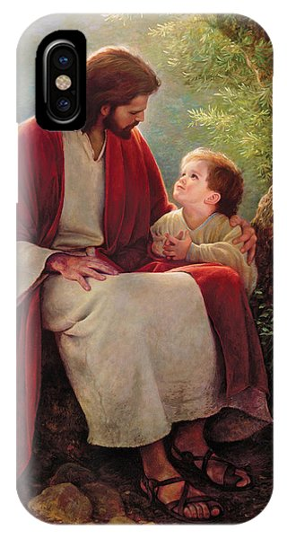 Red iPhone X Case - In His Light by Greg Olsen