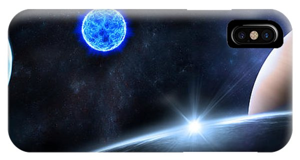 Explosion iPhone X Case - in Space by Svetlana Sewell