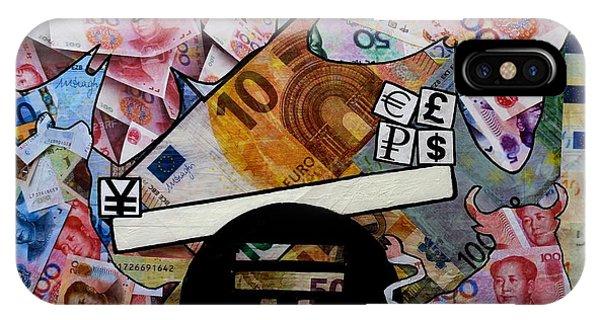 Finance iPhone Case - In The Balance by John  Nolan