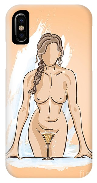 In The Bathroom. IPhone Case