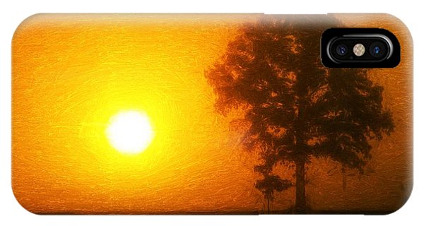IPhone Case featuring the painting In The Beginning by Dan Sproul