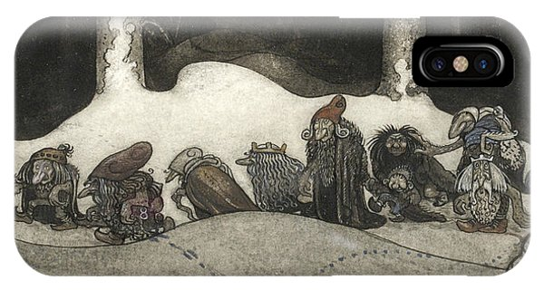 Swedish Painters iPhone Case - In The Christmas Night  by John Bauer