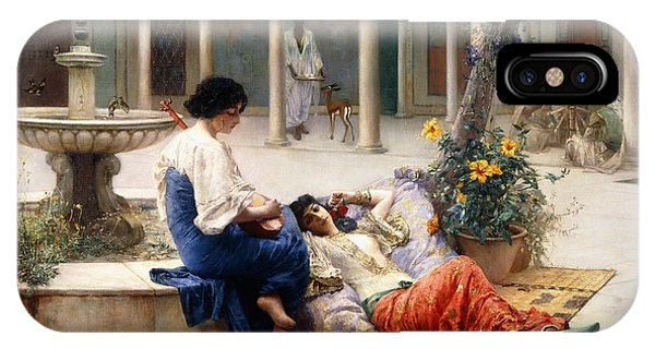 Strum iPhone Case - In The Courtyard Of The Harem by Max Ferdinand Bredt