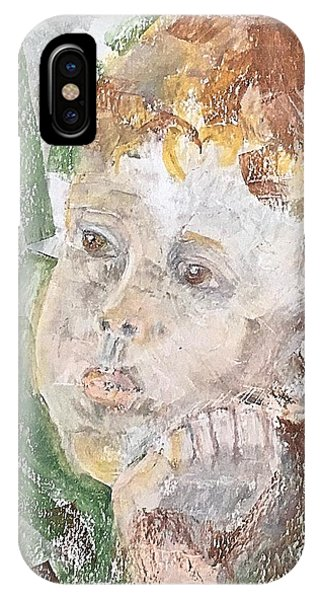 IPhone Case featuring the pastel In The Eyes Of A Child by Norma Duch