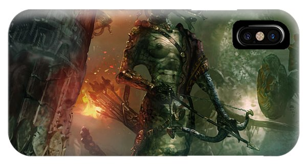 Gorgon iPhone Case - In The Lair Of The Gorgon by Ryan Barger