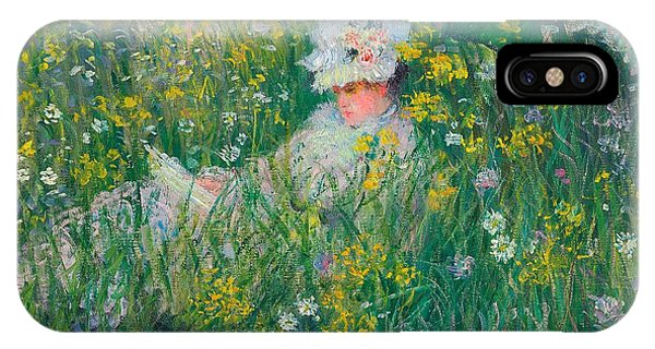 Relaxation iPhone Case - In The Meadow by Claude Monet