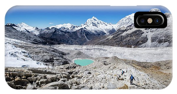 In The Middle Of The Cordillera Blanca IPhone Case