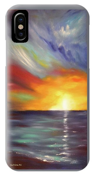 In The Moment - Vertical Sunset IPhone Case