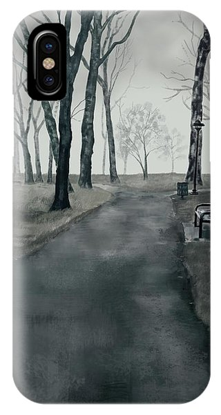 Park Bench iPhone Case - In The Park by Paul Dutka