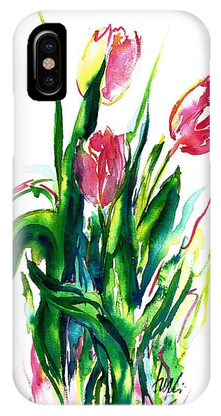 In The Pink Tulips IPhone Case