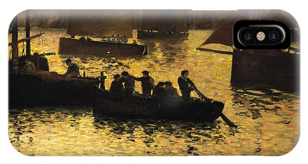 1895 iPhone Case - In The Port by Charles Cottet