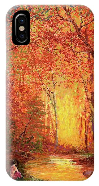Fantasy Art iPhone Case - In The Presence Of Light Meditation by Jane Small
