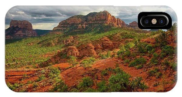 In The Shadow Of Cathedral Rock IPhone Case
