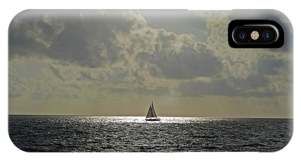 In The Spotlight. Sailboat Sailing In Naples Fl IPhone Case