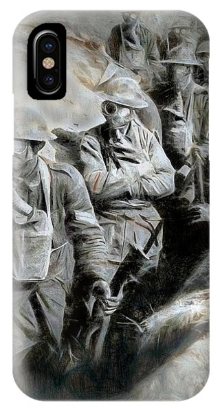 IPhone Case featuring the digital art In The Trenches by Pennie  McCracken