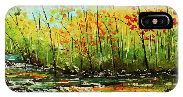 IPhone Case featuring the painting In The Woods by Kevin Brown