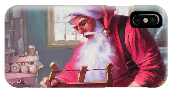 Santa Claus iPhone Case - In The Workshop by Steve Henderson
