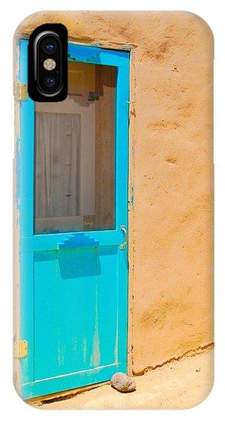In Through The Blue Door IPhone Case