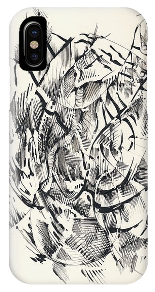 IPhone Case featuring the drawing In Vain by Keith A Link