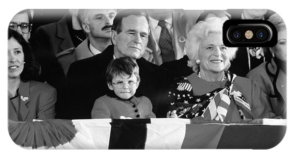 George Bush iPhone Case - Inauguration Of George Bush Sr by H. Armstrong Roberts/ClassicStock
