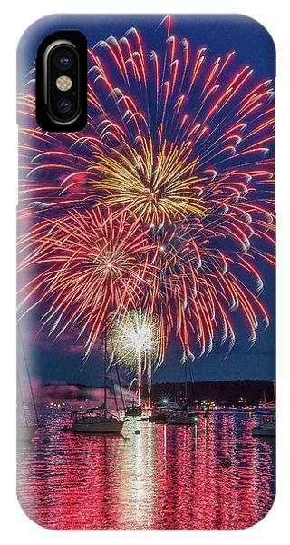 Independence Day Fireworks In Boothbay Harbor IPhone Case