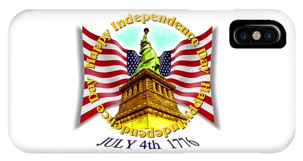 Sports Clothing iPhone Case - Independence Day July 4th 1776 Design by Peter Potter