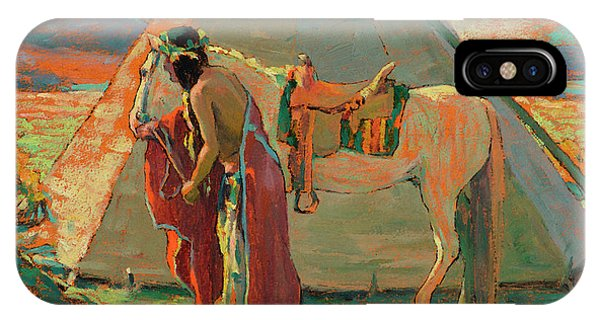 Aztec iPhone Case - Indian Camp by Eanger Irving Couse