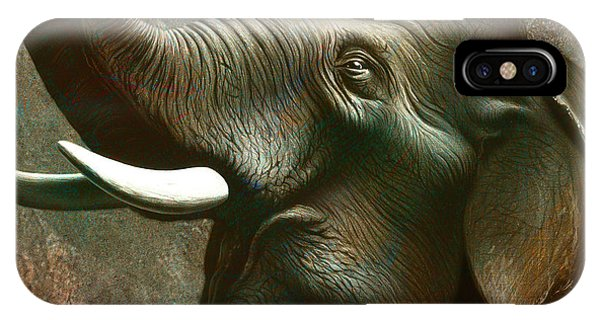 Trumpet iPhone Case - Indian Elephant 2 by Jerry LoFaro