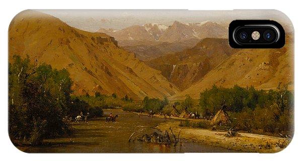 Indian Encampment IPhone Case