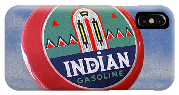 Gas Station iPhone Case - Indian Gas Globe by Mike McGlothlen