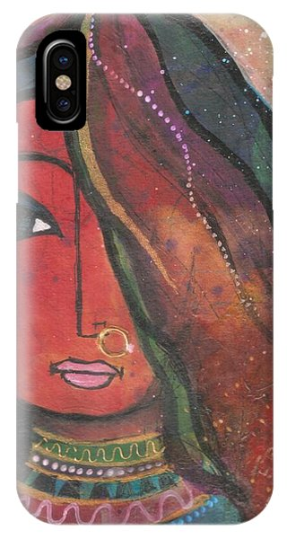 Indian Girl With Nose Ring IPhone Case