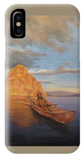 Indian On Lake Pyramid IPhone Case