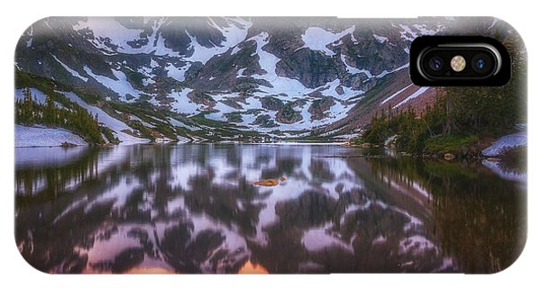 Indian Peaks Reflection IPhone Case
