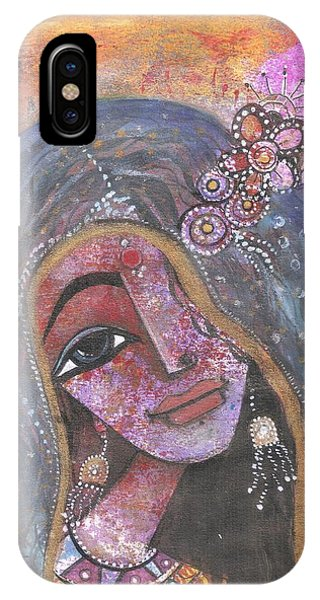 Indian Rajasthani Woman With Colorful Background  IPhone Case