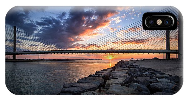 Indian River Inlet And Bay Sunset IPhone Case