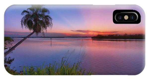 Indian River State Park Bursting Sunset IPhone Case