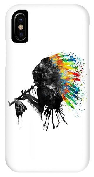 Indian Silhouette With Colorful Headdress IPhone Case