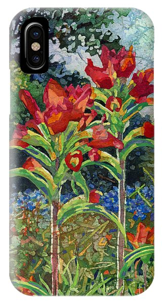 Red Flower iPhone Case - Indian Spring by Hailey E Herrera