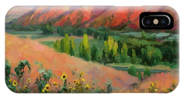 Hiking iPhone Case - Indian Hill by Steve Henderson