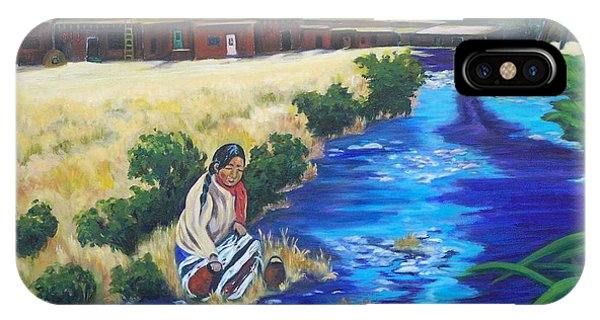 Indian Woman At The Watering Hole IPhone Case