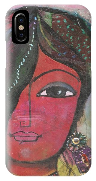 Indian Woman Rajasthani Colorful IPhone Case