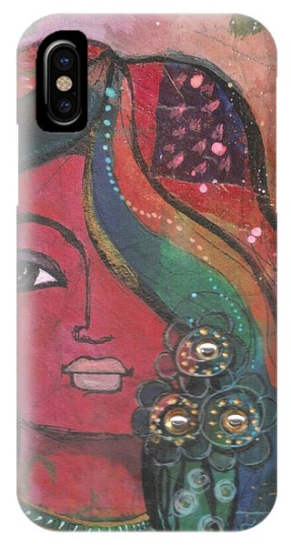 Indian Woman With Flowers  IPhone Case