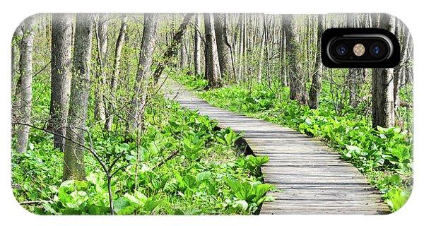 Indiana Dunes Great Green Marsh Boardwalk IPhone Case